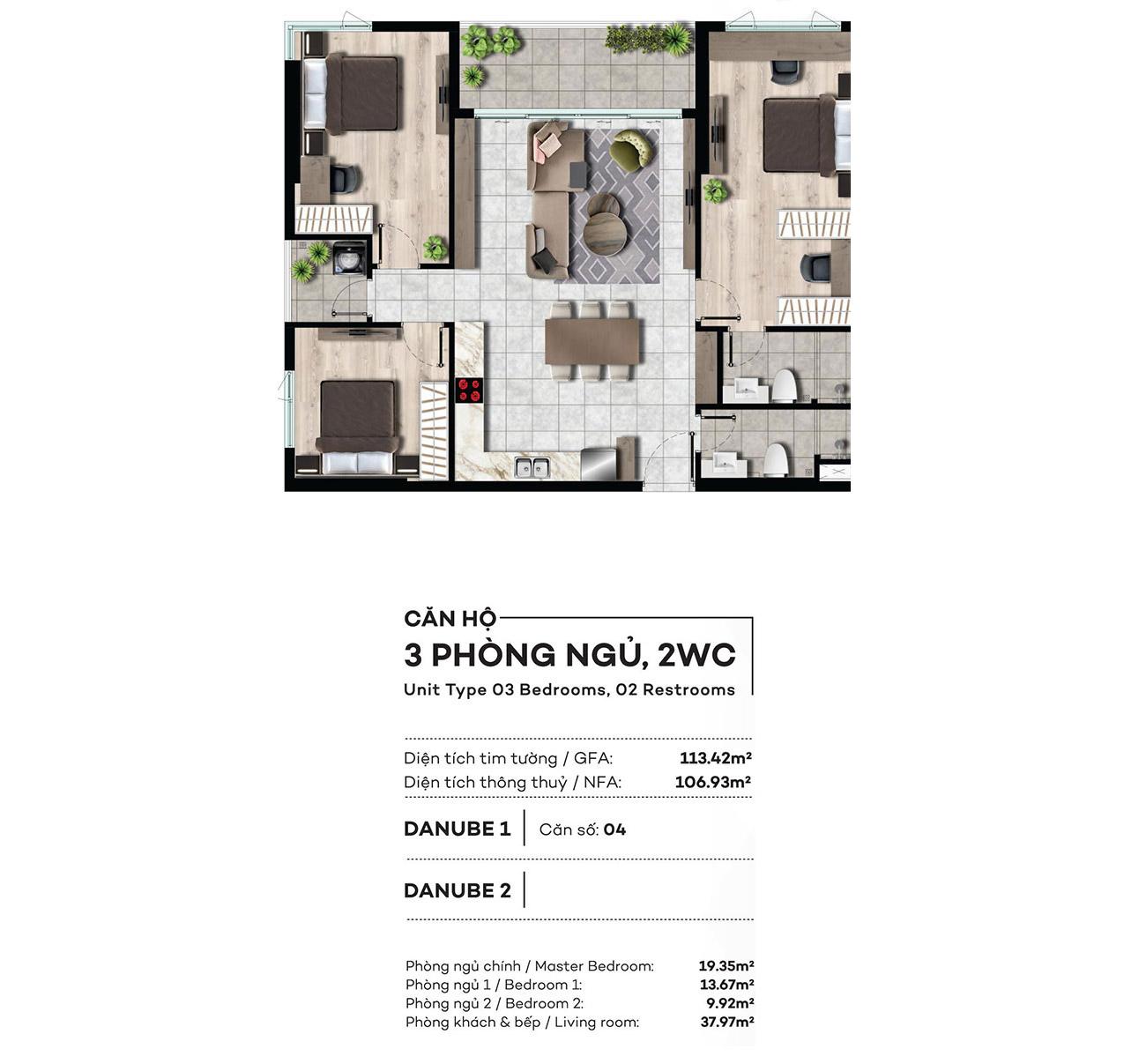 Thiết kế chi tiết căn hộ Marina Park Quận 7 Đào Trí