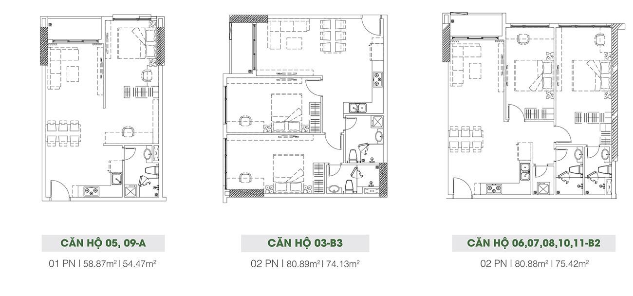 Thiết kế chi tiết các căn hộ tại Riva Park
