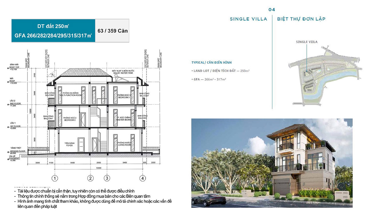 Ý tưởng thiết kế các căn Biệt thự đơn lập tại Zeitgeist City