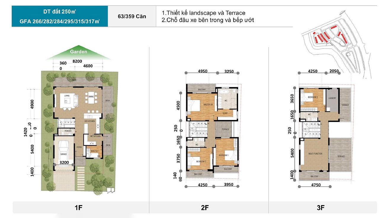 Thiết kế chi tiết các căn Biệt thự đơn lập tại Zeitgeist City