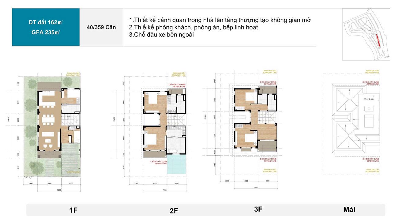 Thiết kế chi tiết các căn Biệt thự song lập lập tại Zeitgeist City