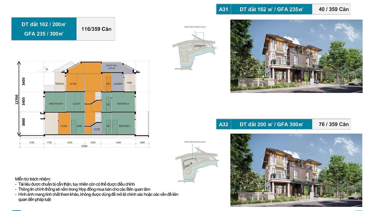 Ý tưởng thiết kế các căn Biệt thự song lập tại Zeitgeist City