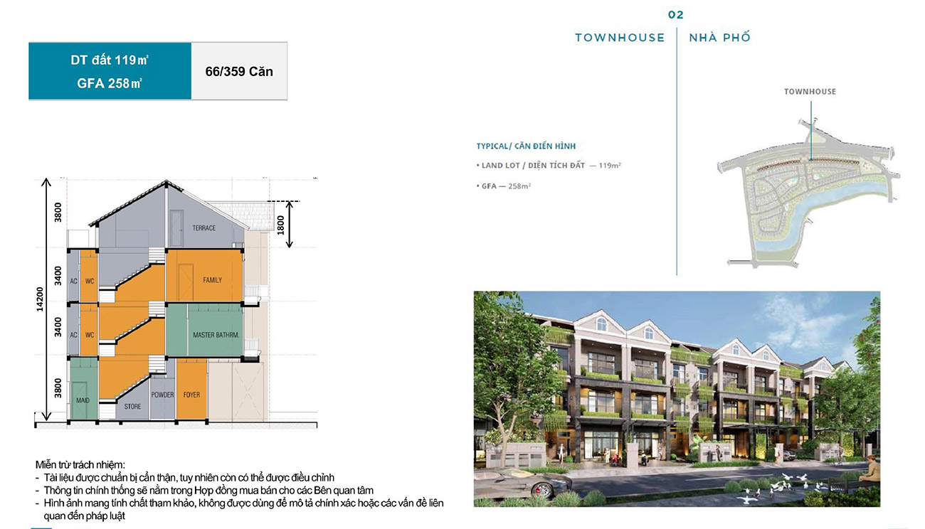 Ý tưởng thiết kế các căn shop house