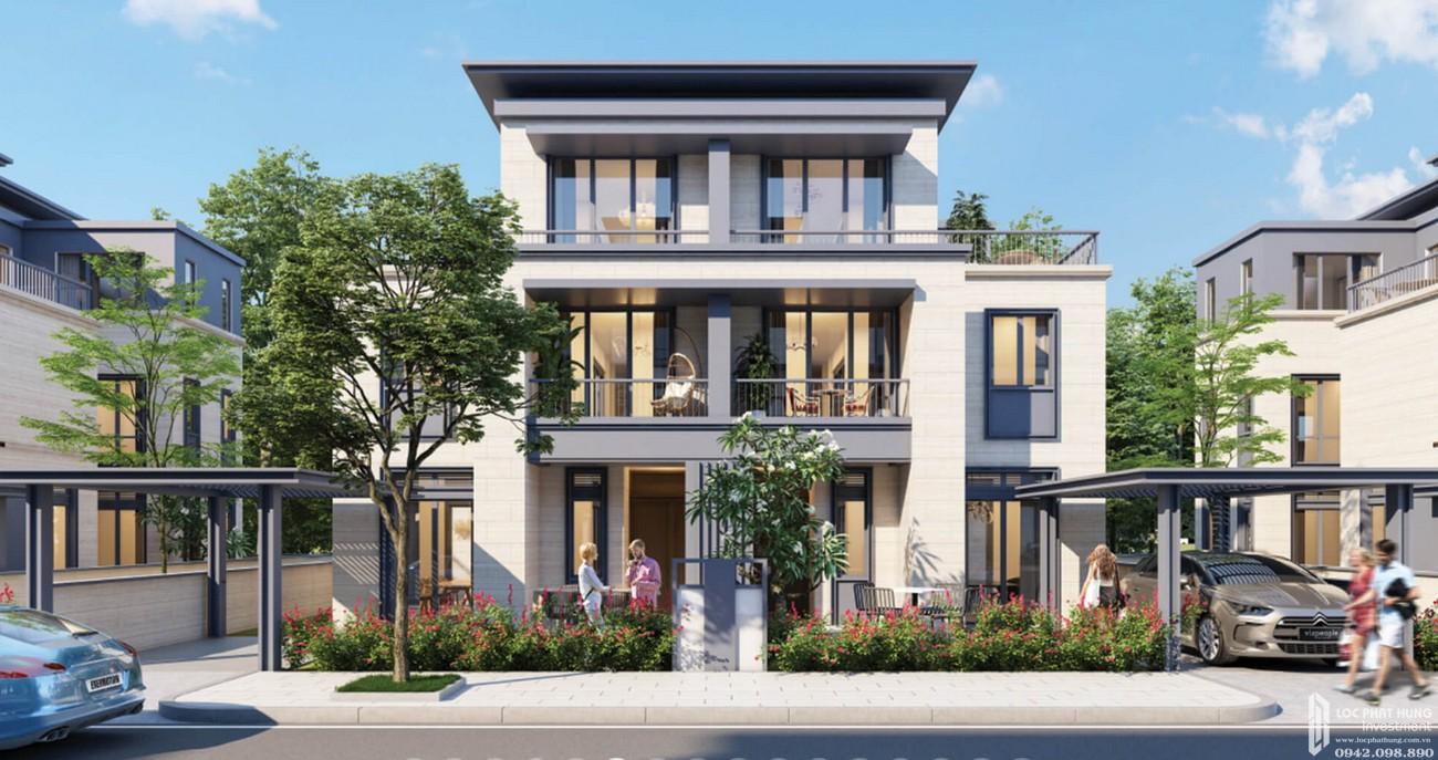 Thiết kế Biệt Thự Phú Quý Swan Park Nhơn Trạch Đường Đường số 7 chủ đầu tư CFLD