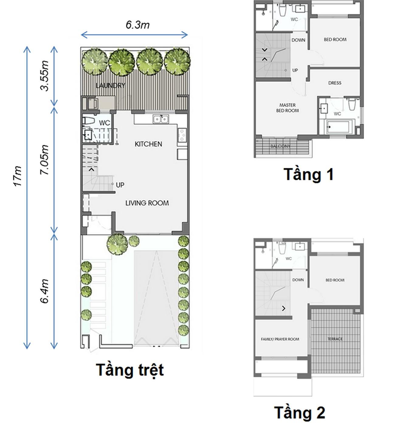 Thiết kế Biệt Thự Cảnh Quan Swan Park Nhơn Trạch Đường Đường số 7 chủ đầu tư CFLD