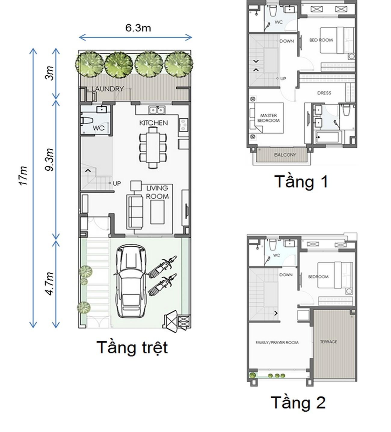 Thiết kế Biệt Thự Sinh Thái Swan Park Nhơn Trạch Đường Đường số 7 chủ đầu tư CFLD