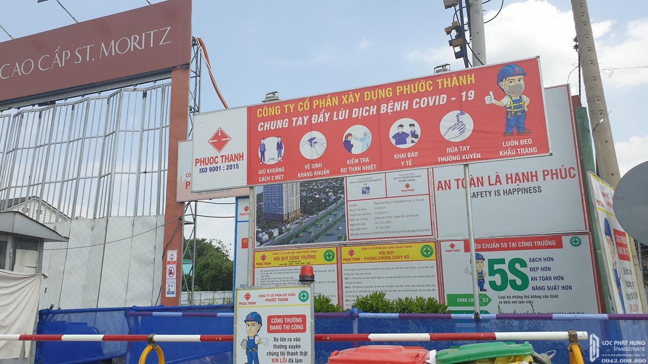 Tiến độ dự án căn hộ chung cư ST Moritz Thu Duc Đường Phạm Văn Đồng chủ đầu tư Đất Xanh 23/04/2020