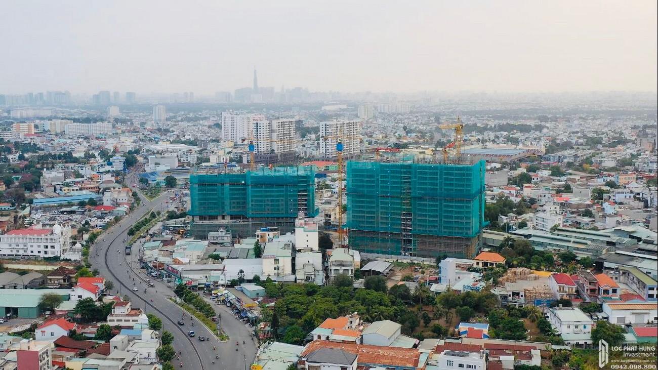 Tiến độ dự án căn hộ chung cư Opal Boulevard Dĩ An Đường Phạm Văn Đồng chủ đầu tư Đất xanh Group 04/2020