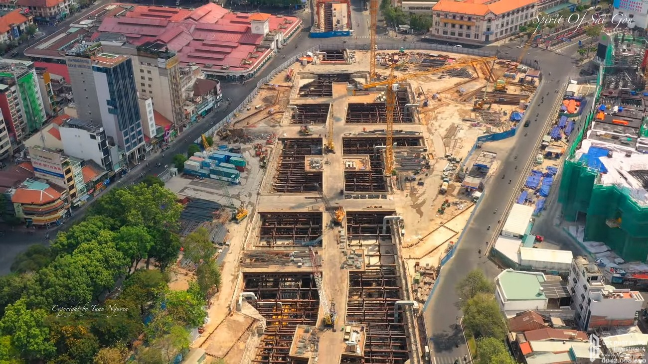 Tiến độ dự án căn hộ chung cư The Spirit Of Saigon Quận 1 Đường 1 Phạm Ngũ Lão chủ đầu tư Bitexco 24/04/2020