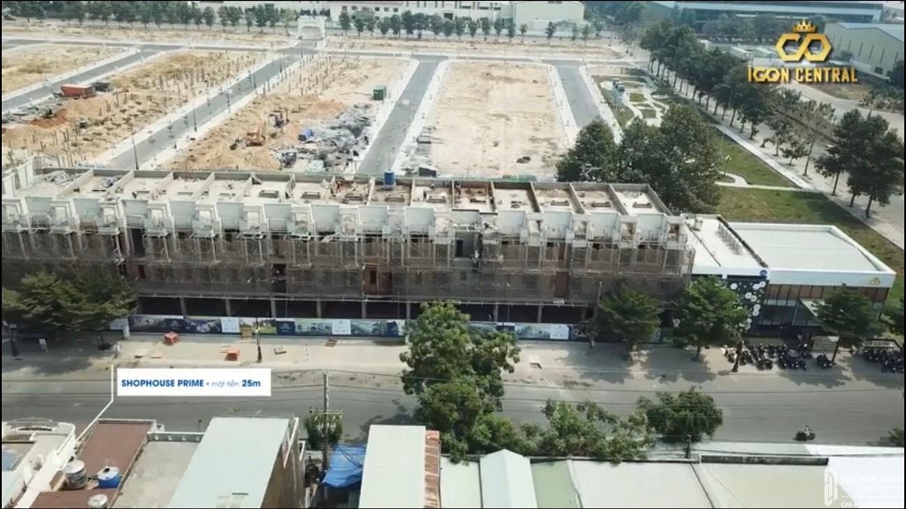 Tiến độ xây dựng Nhà phố + Shophouse dự án Icon Central 04/2020 – Nhận ký gửi mua bán + Cho thuê