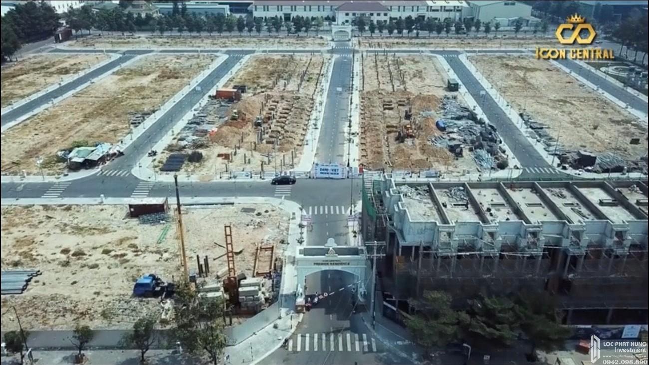 Tiến độ dự án đất nền nhà phố Icon Central Dĩ An Bình Dương chủ đầu tư Phú Hồng Thịnh 04/2020