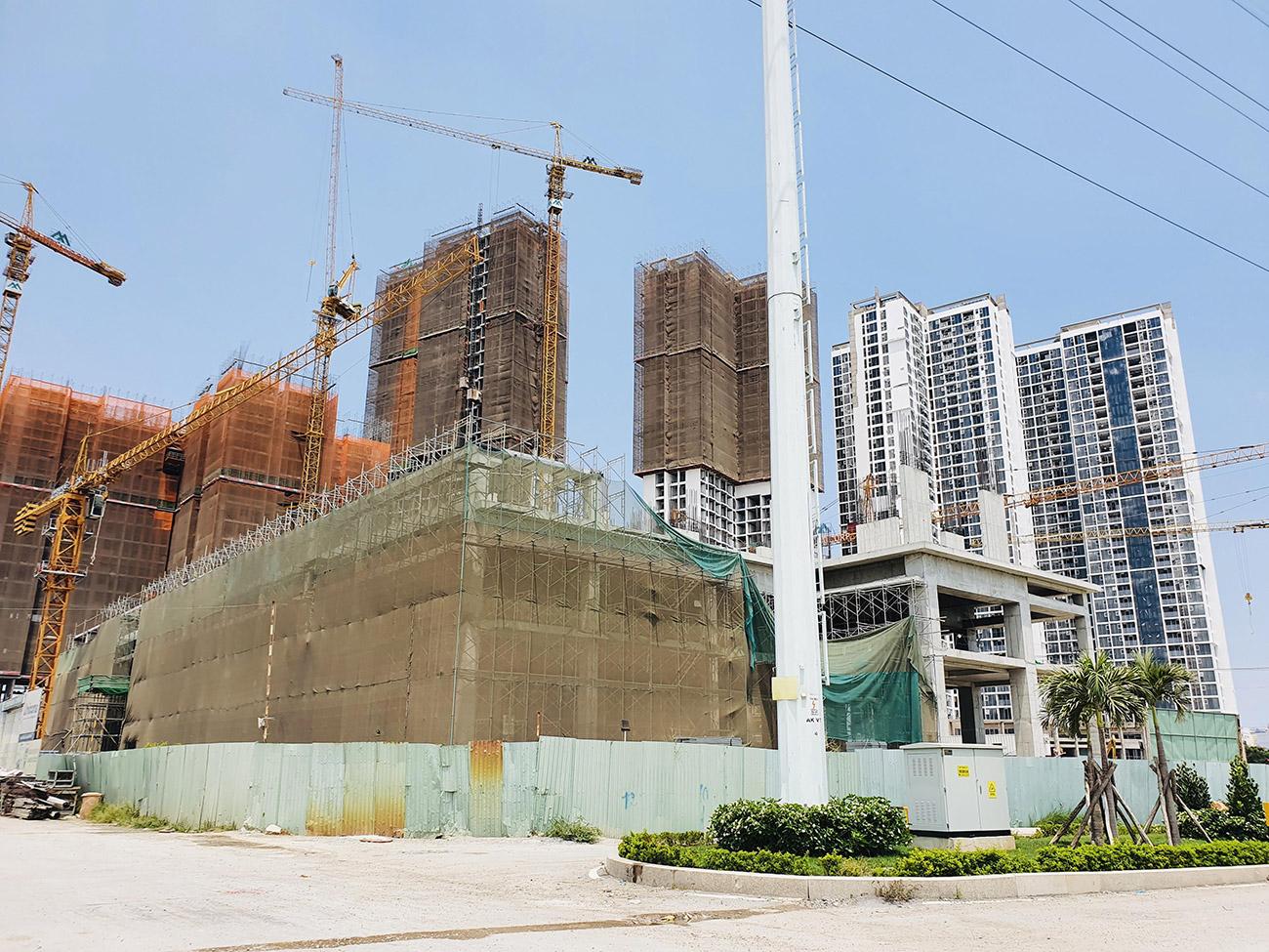 Tiến độ xây dựng toà HR3 Eco Green Saigon