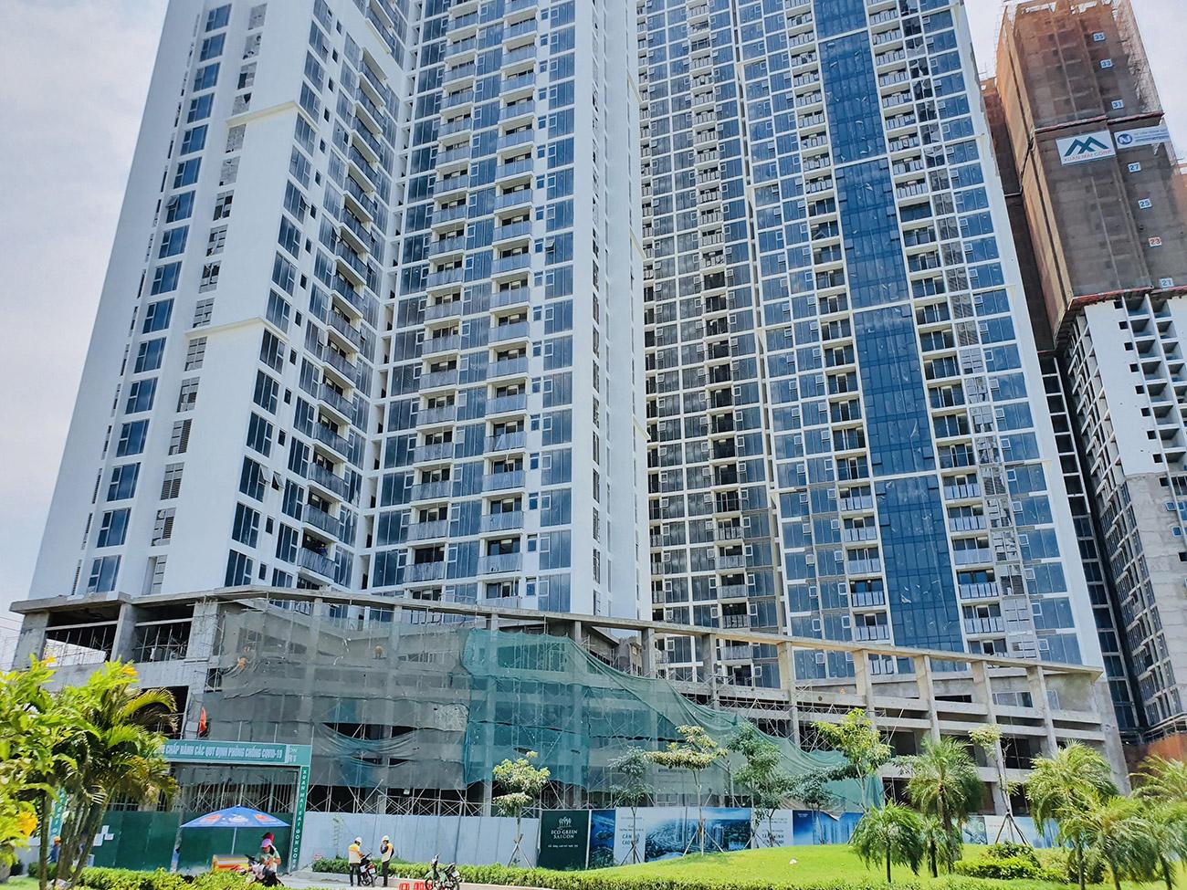 Tiến độ xây dựng cụm HR1 Eco Green Saigon