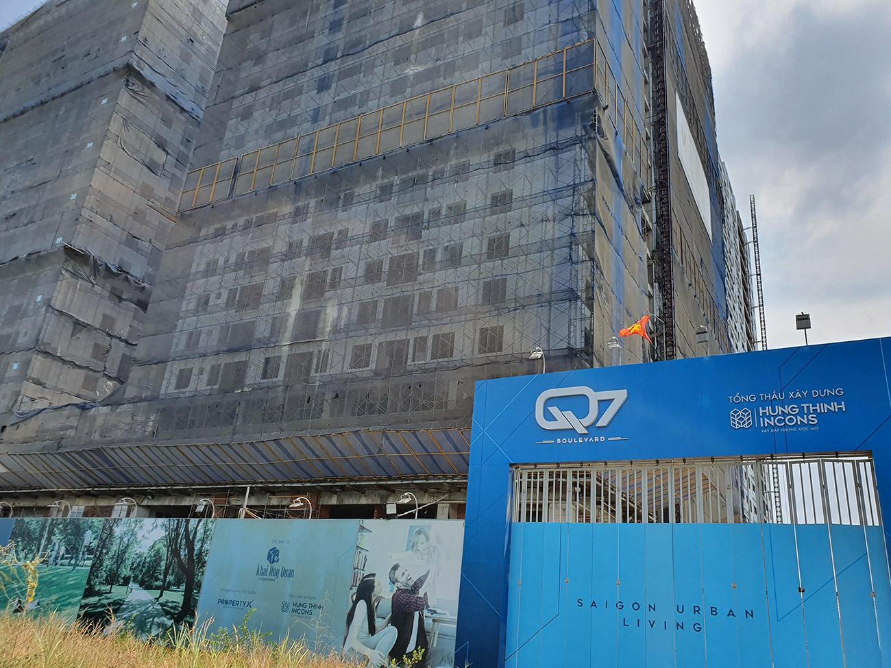 Tiến độ xây dựng dự án căn hộ Q7 Boulevard tháng 04/2020