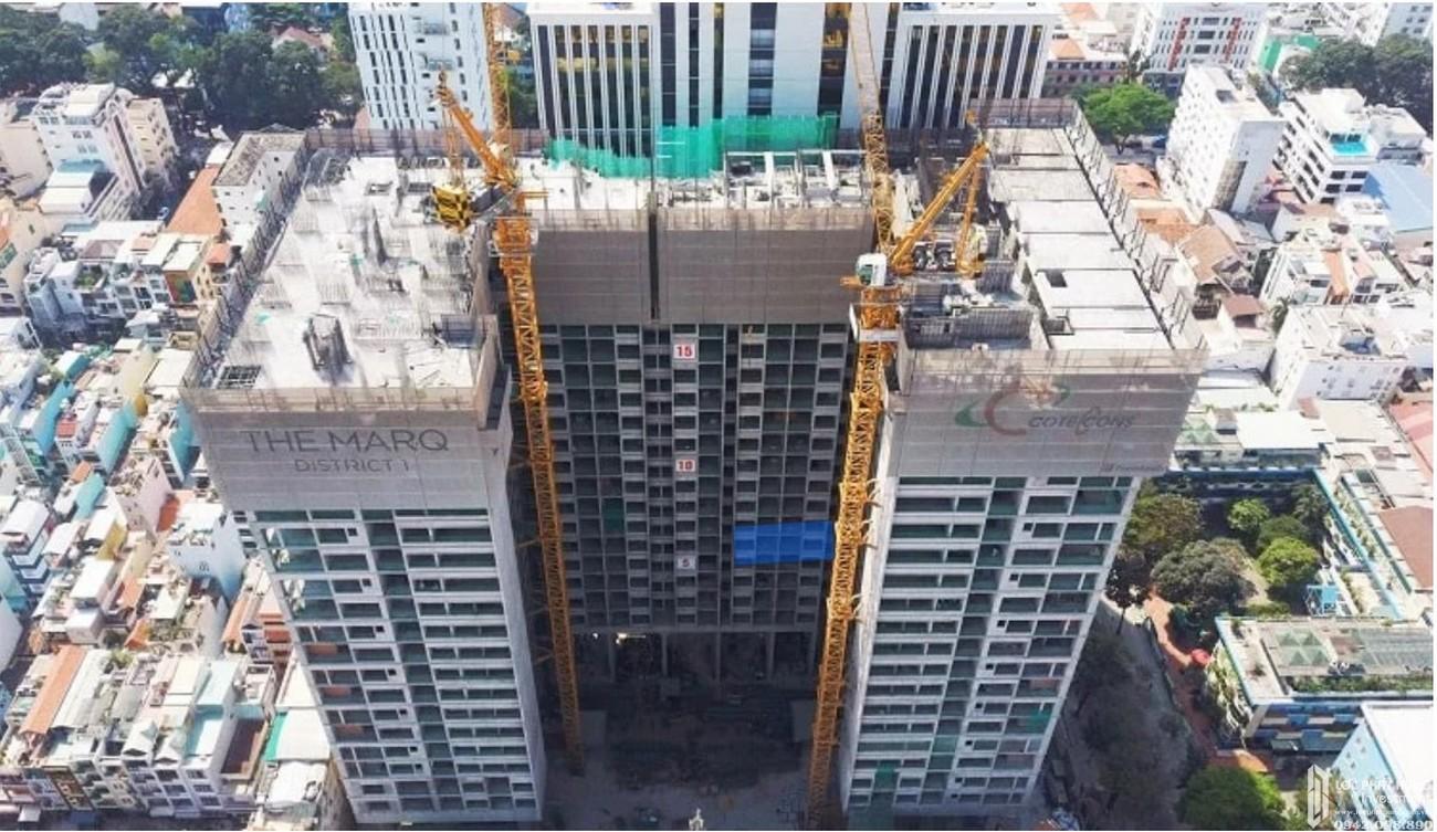 Cập nhật tiến độ xây dựng dự án căn hộ The Marq quận 1 tháng 03/2019