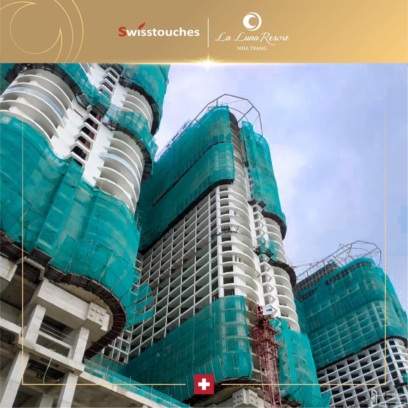 Tiến độ xây dựng dự án căn hộ condotel La Luna Nha Trang 11/2019