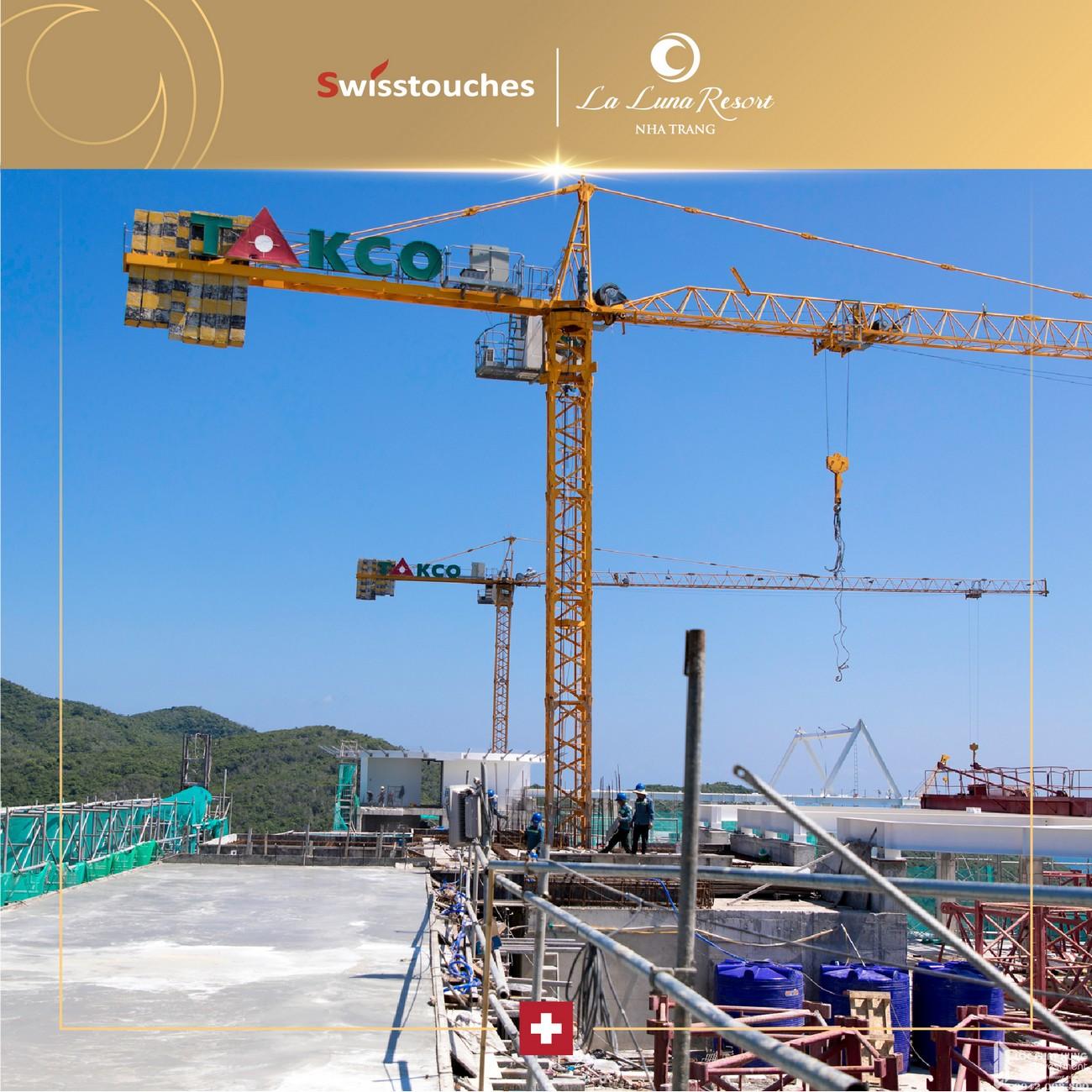 Tiến độ xây dựng dự án condotel La Luna Nha Trang 11/2019