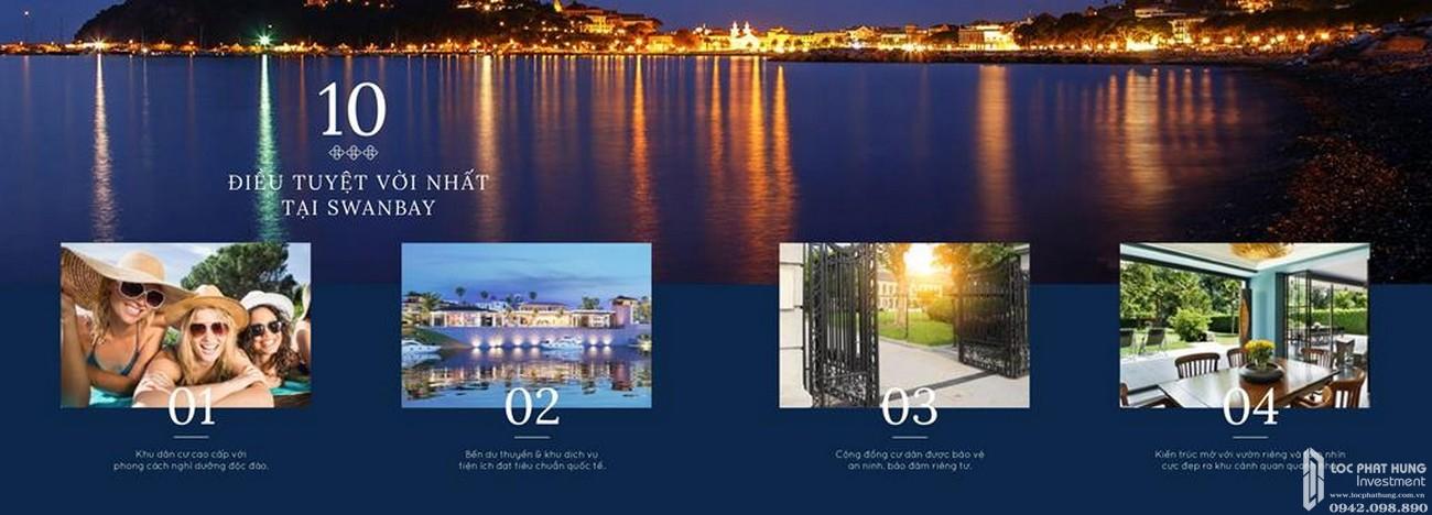 Tiện ích dự án Nhà Phố biệt thự Swan Bay Nhơn Trạch Đường Đại Phước chủ đầu tư CFLD