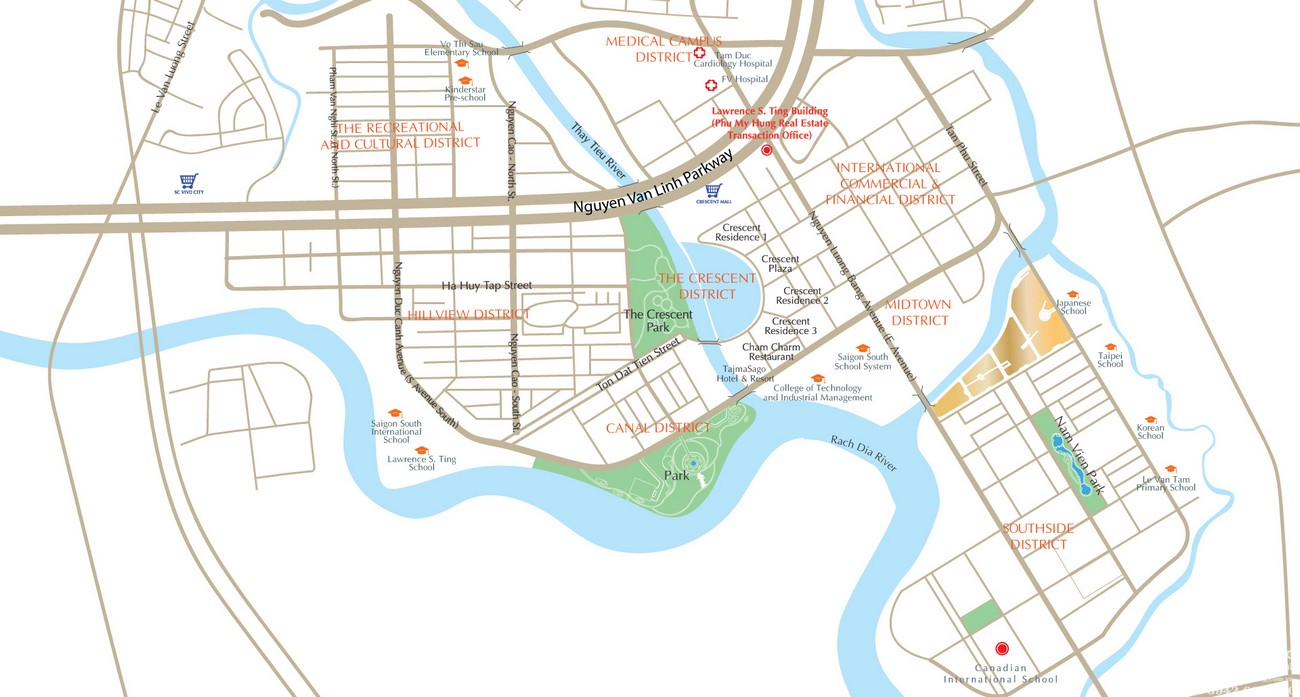Vị trí địa chỉ dự án căn hộ chung cư The Signature Phú Mỹ Hưng Quận 7 Đường Đường 16 chủ đầu tư Phú Mỹ Hưng