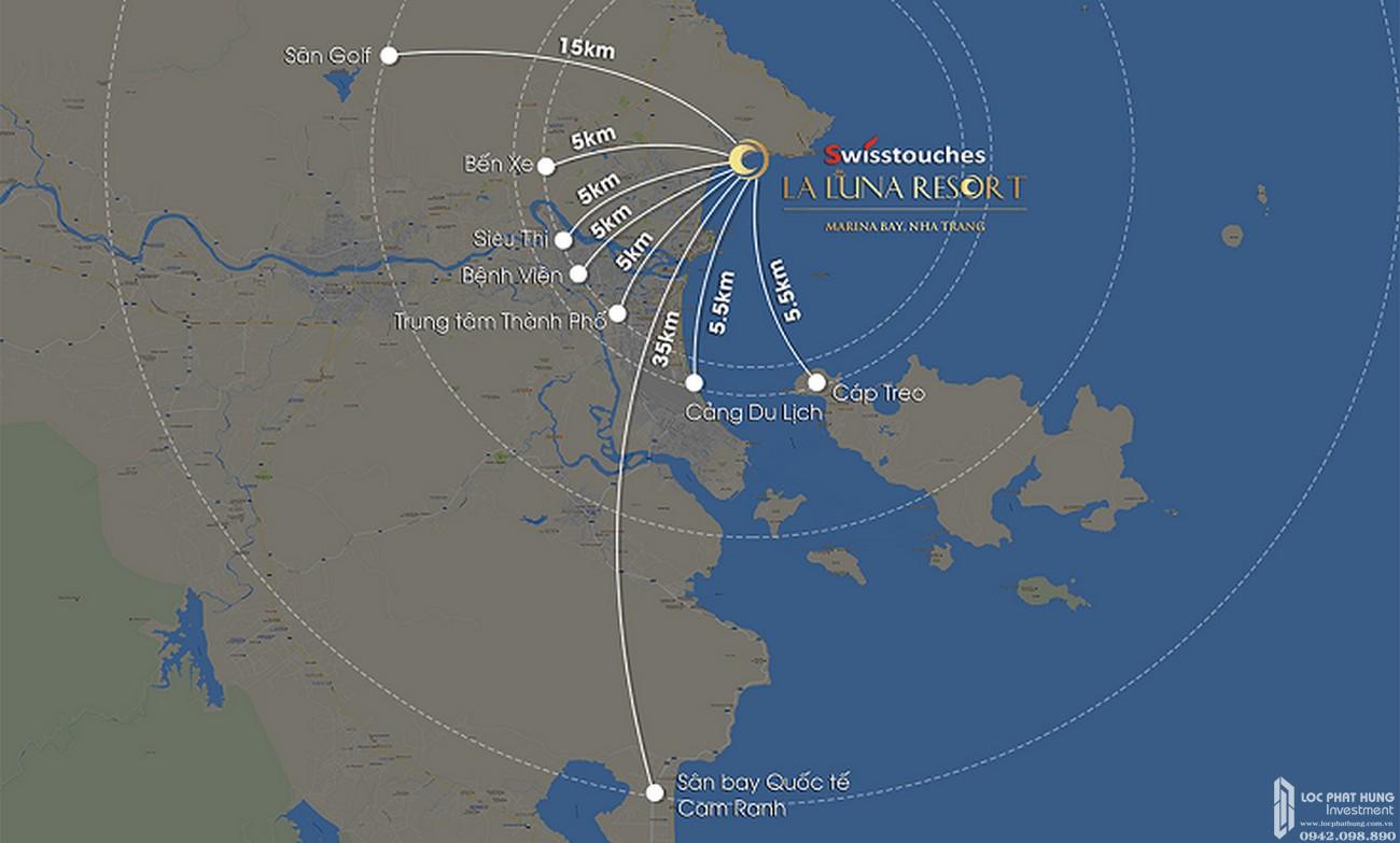 Vị trí dự án condotel La Luna Nha Trang