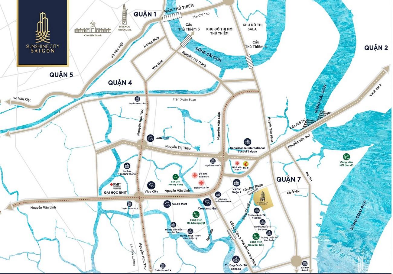Vị trí dự án căn hộ Sunshine City Sài Gòn