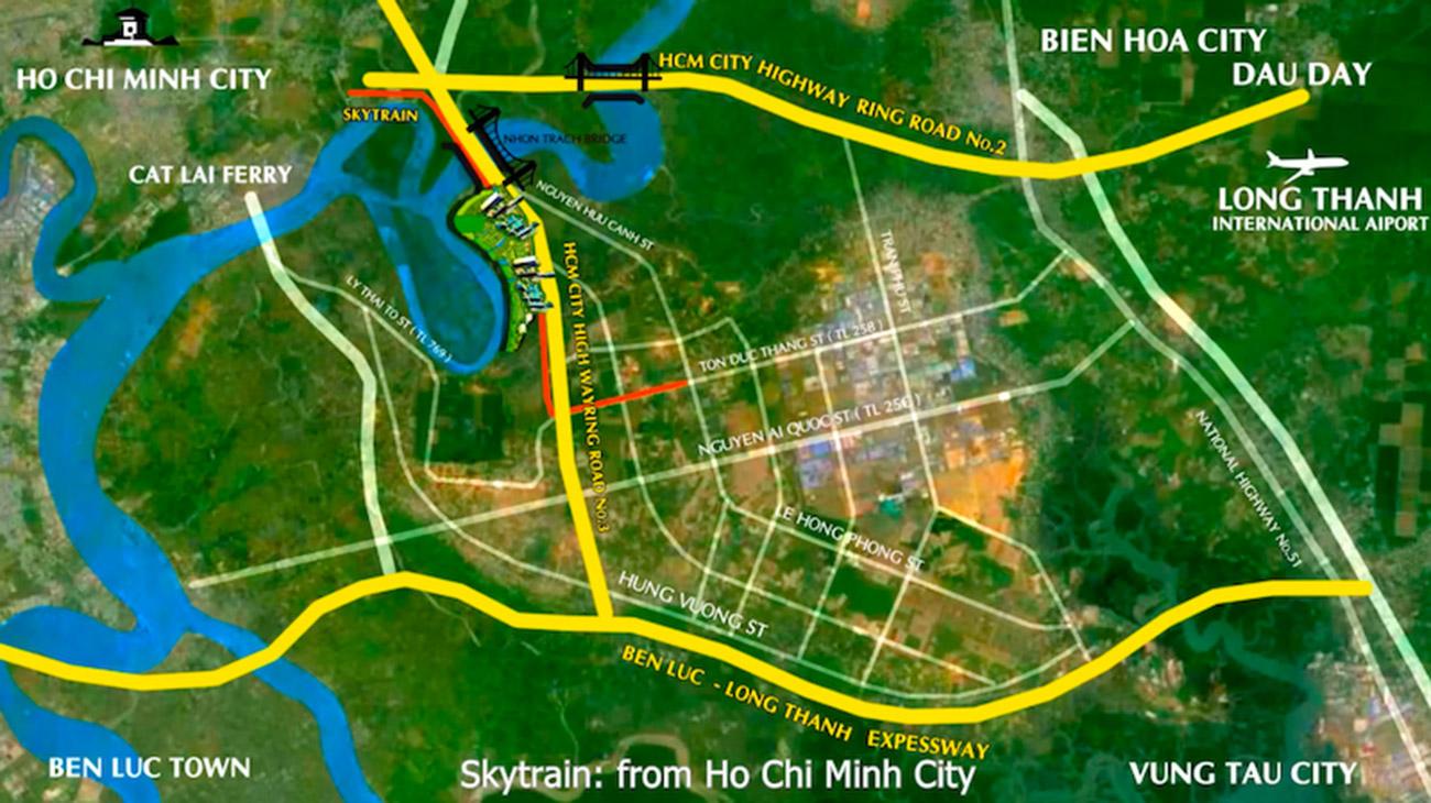 Vị trí dự án khu đô thị Long Tân Wisteria City Đồng Nai