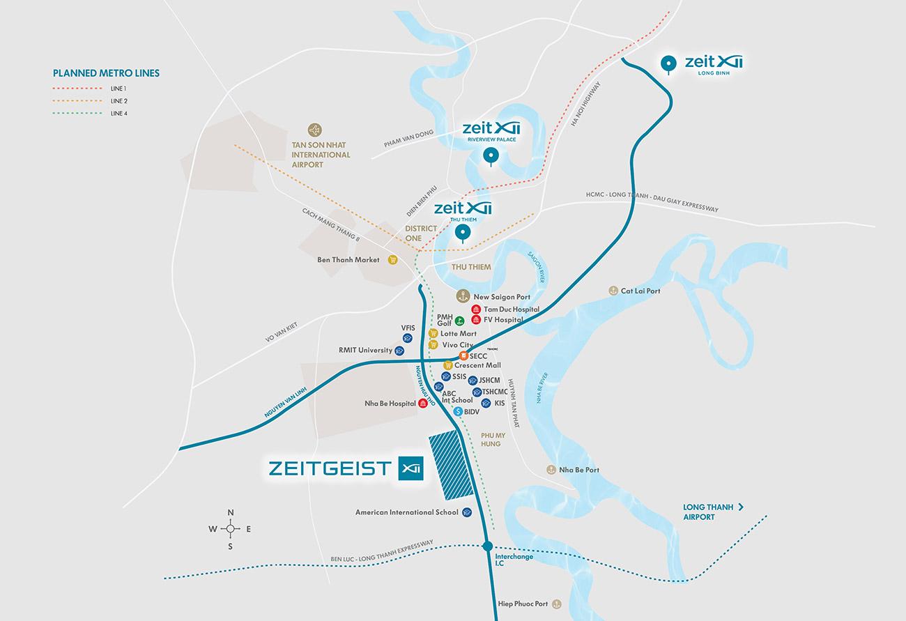 Vị trí vàng dự án GS Zeitgeist City Nha Be