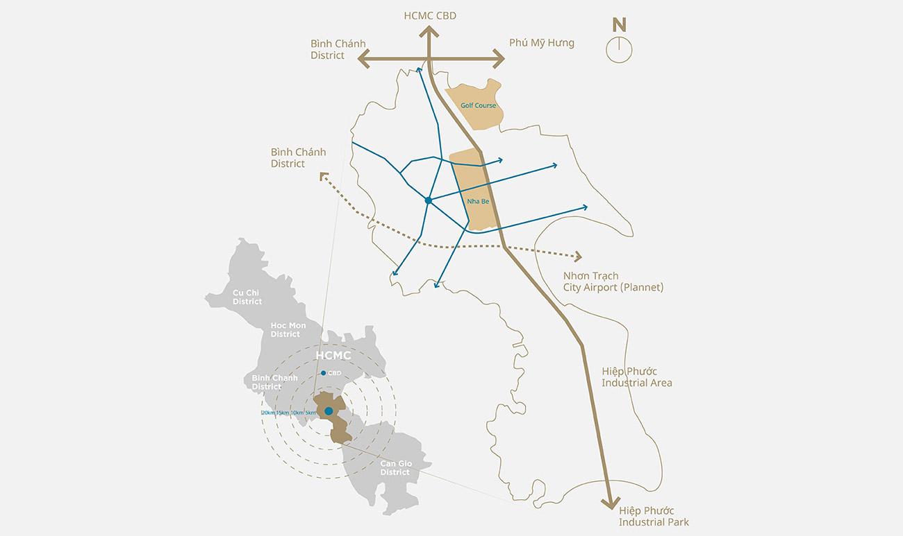 Tiềm năng phát triển nhờ vào vị trí vàng dự án ZeitGeist GS MetroCity