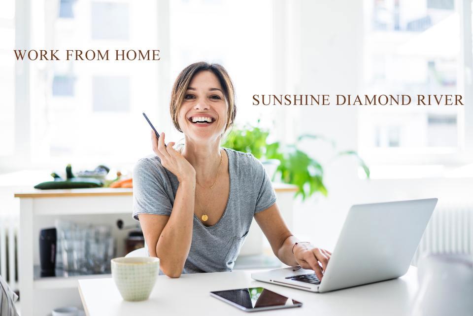 Làm việc tại nhà cùng dự án Sunshine Diamond River
