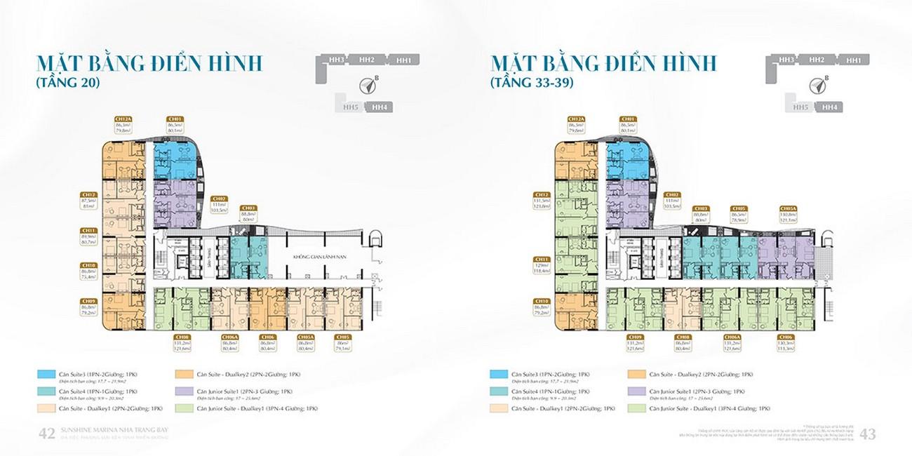 Mặt bằng dự án Sunshine Marina Nha Trang Bay TP Nha Trang