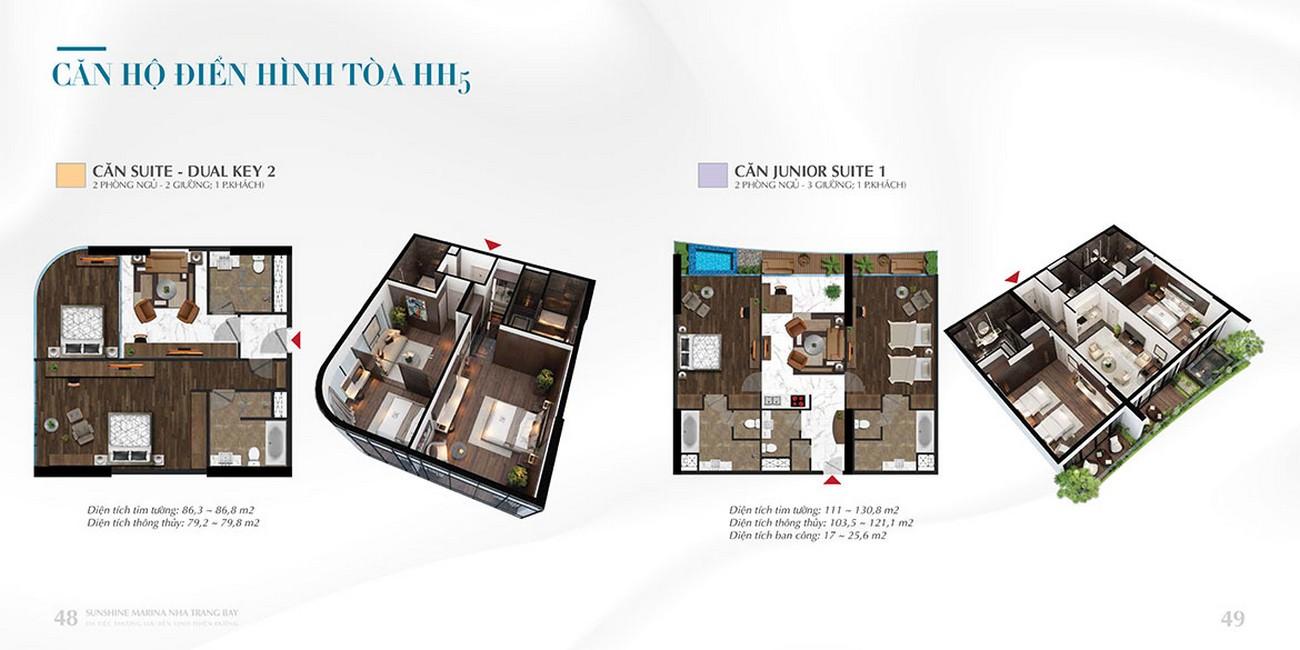 Mặt bằng thiết kế chi tiết dự án Sunshine Marina Nha Trang Bay TP Nha Trang