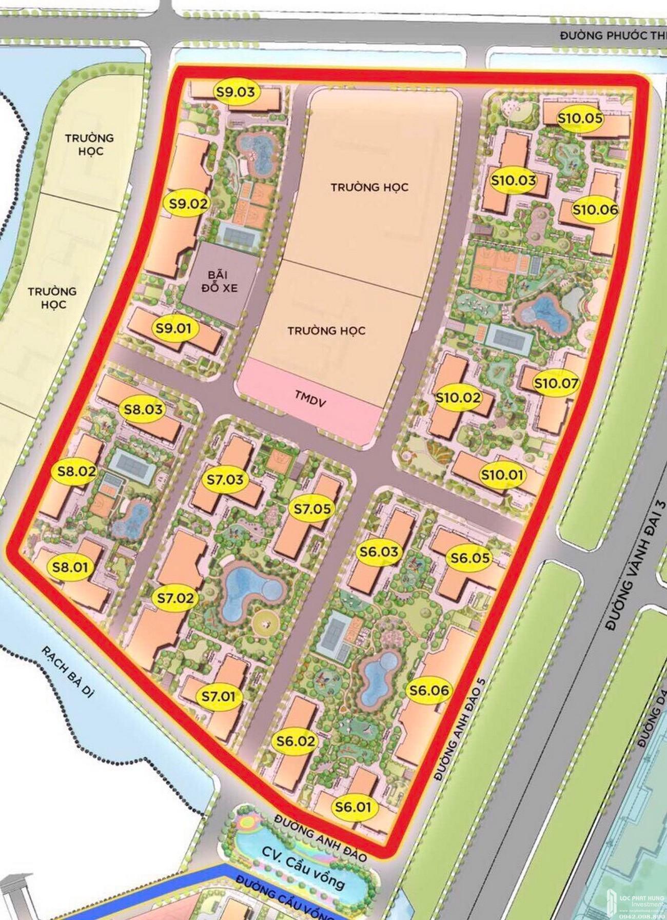Mặt bằng chi tiết dự án căn hộ chung cư The Origami Quận 9 Đường Nguyễn Xiển chủ đầu tư Vingroup