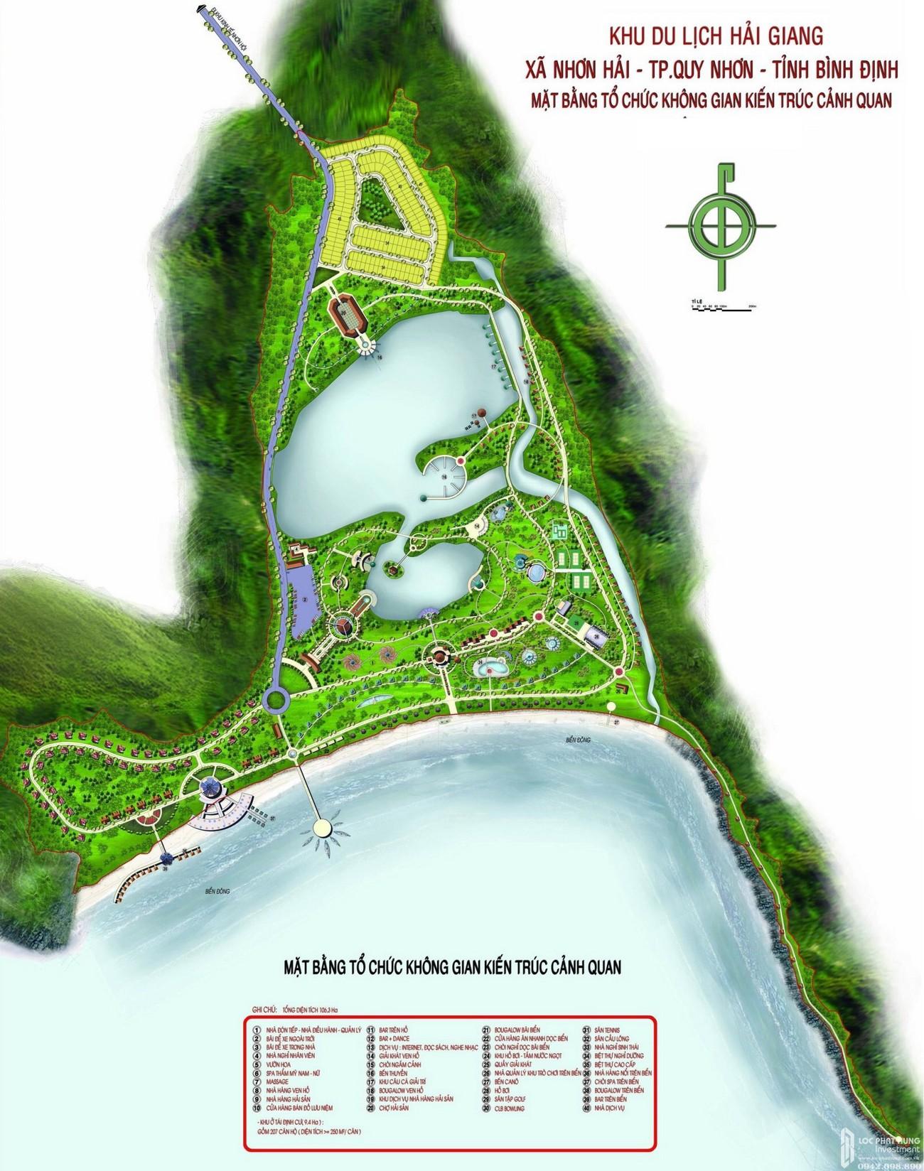 Mặt bằng dự án căn hộ biệt thự Merry City Quy Nhơn chủ đầu tư Hưng Thịnh