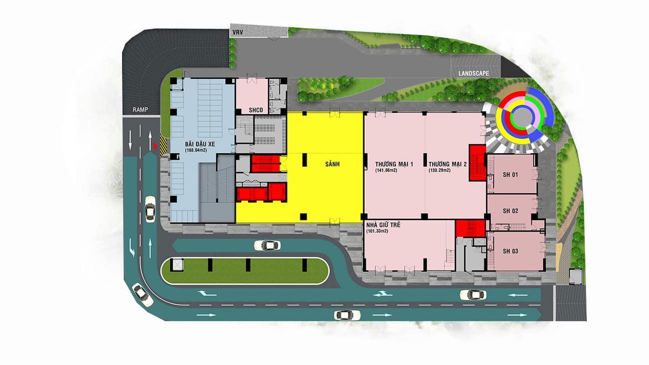 Mặt bằng chi tiết dự án căn hộ chung cư Happy One PREMIER
