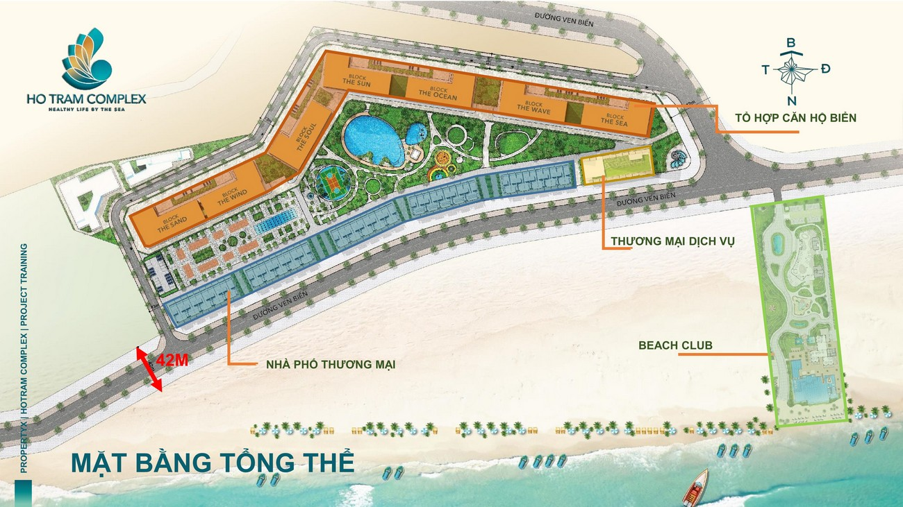 Mặt bằng dự án căn hộ chung cư Hồ Tràm Complex Xuyên Mộc Đường Ven Biển chủ đầu tư Hưng Thịnh