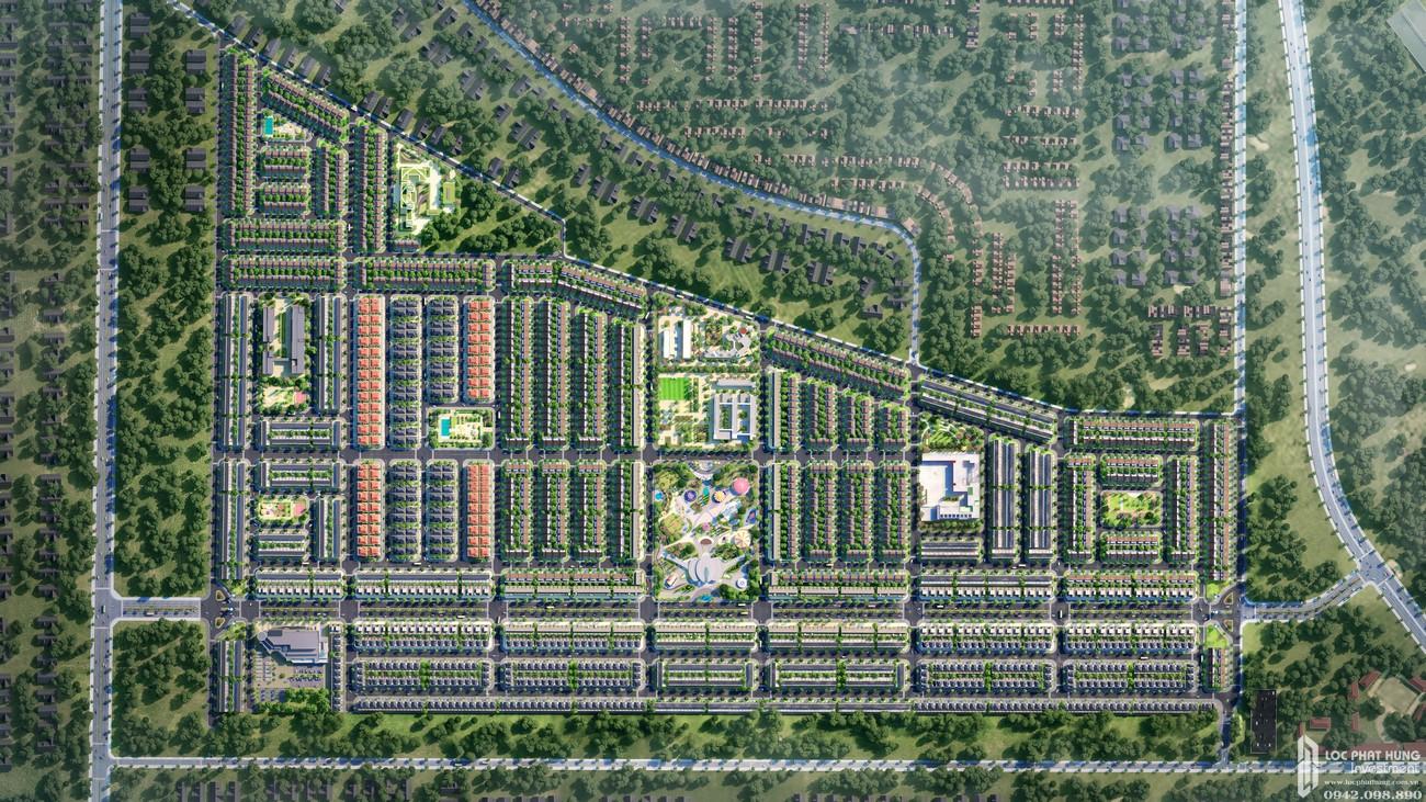 Mặt bằng dự án nhà phố, biệt thự  Gem Sky World Long Thành Đường Quốc Lộ 51 chủ đầu tư Đất Xanh