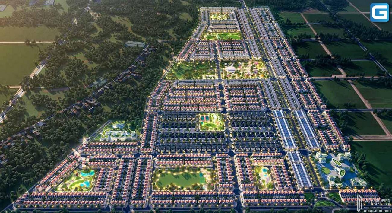 Phối cảnh tổng thể dự án khu đô thị Gem Sky World Long Thành Đường Quốc Lộ 51 chủ đầu tư Đất Xanh