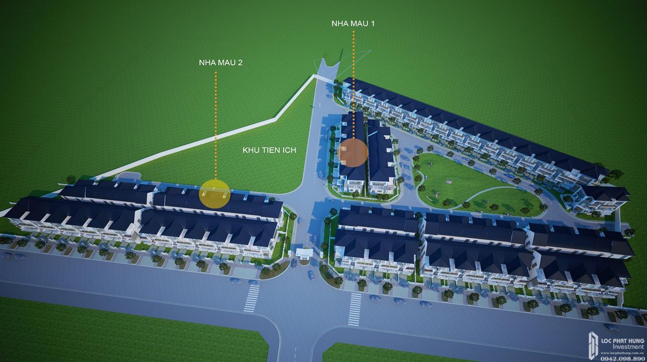 Mặt bằng dự án nhà phố Merita Quận 9 Đường Liên Phường chủ đầu tư Khang Điền