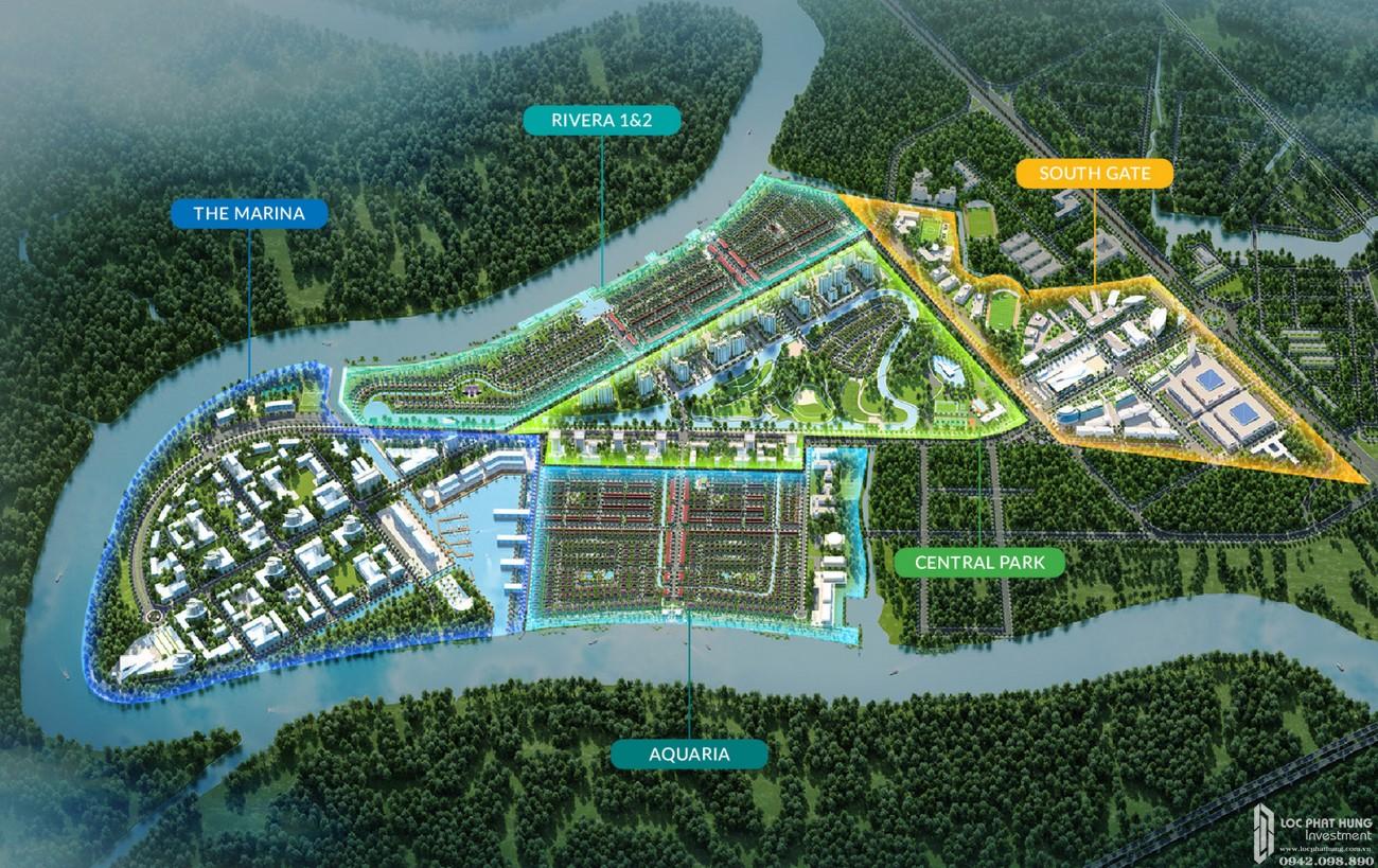 Mặt bằng dự án đất nền nhà phố Waterpoint Long An Đường Tỉnh lộ 830 chủ đầu tư Nam Long