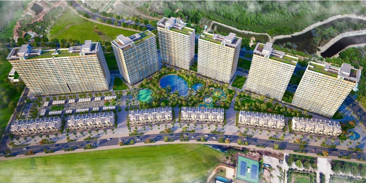 Phối cảnh tổng thể dự án căn hộ Hồ Tràm Complex cđt Hưng Thịnh