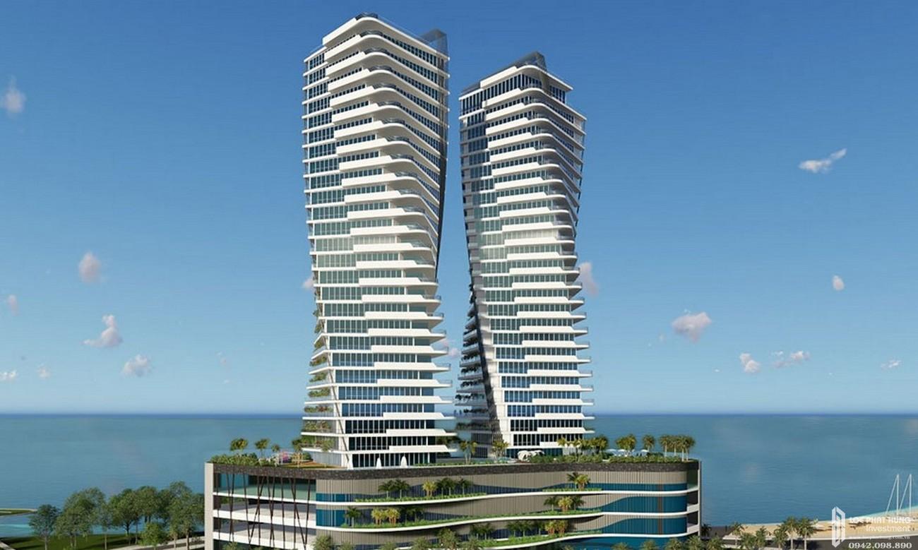 Phối cảnh tổng thể dự án căn hộ chung cư Asiana Nha Trang   Đường Phạm Văn Đồng chủ đầu tư Gotec Land