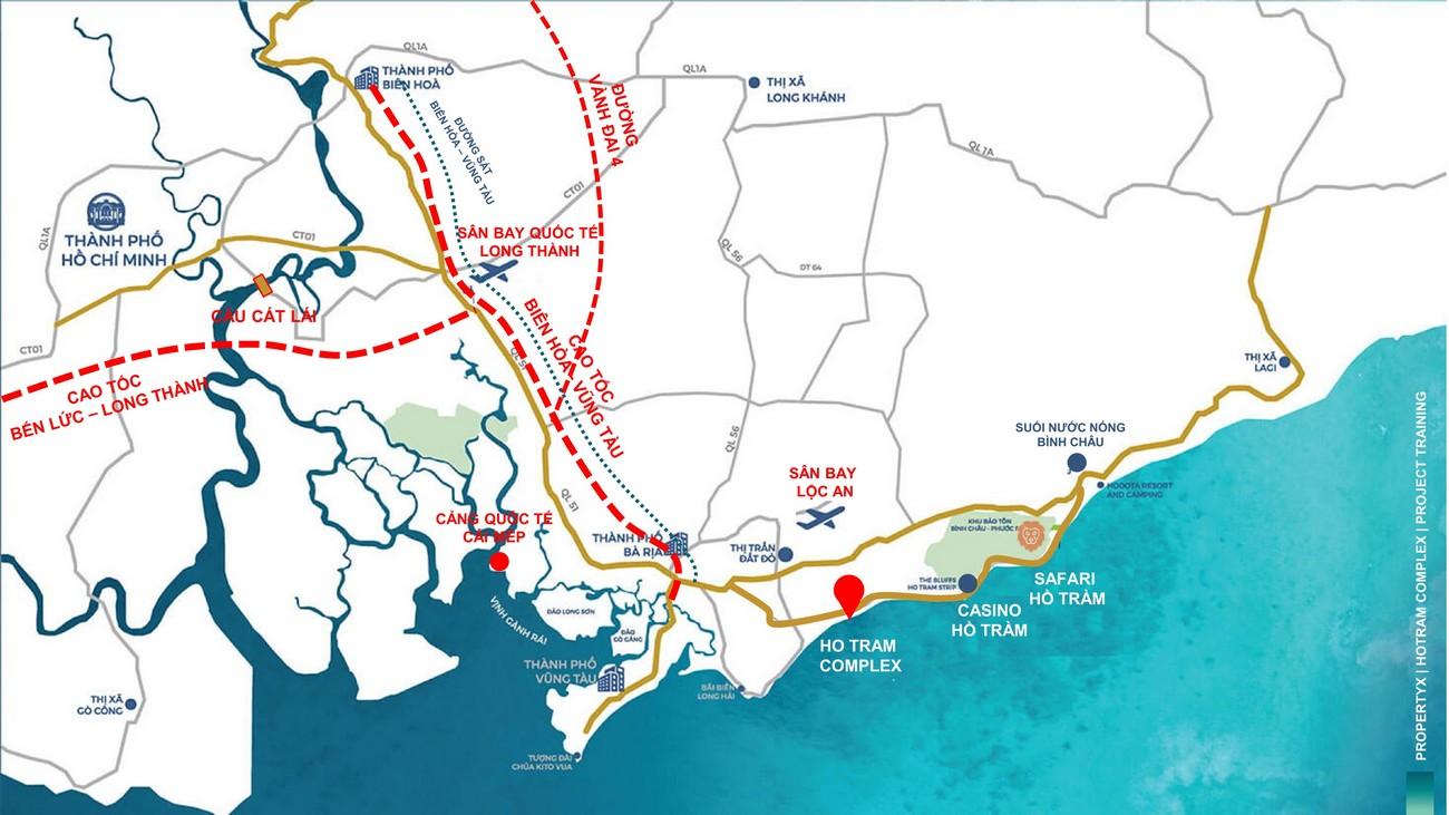 Địa chỉ vị trí chính xác dự án căn hộ Hồ Tràm Complex Hồ Tràm