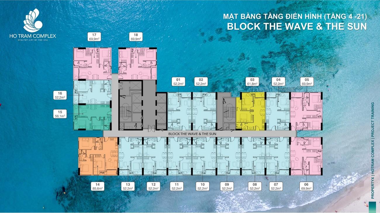 Mặt bằng thiêt kế dự án Hồ Tràm Complex huyện Xuyên Mộc Tỉnh Bà Rịa Vũng Tàu