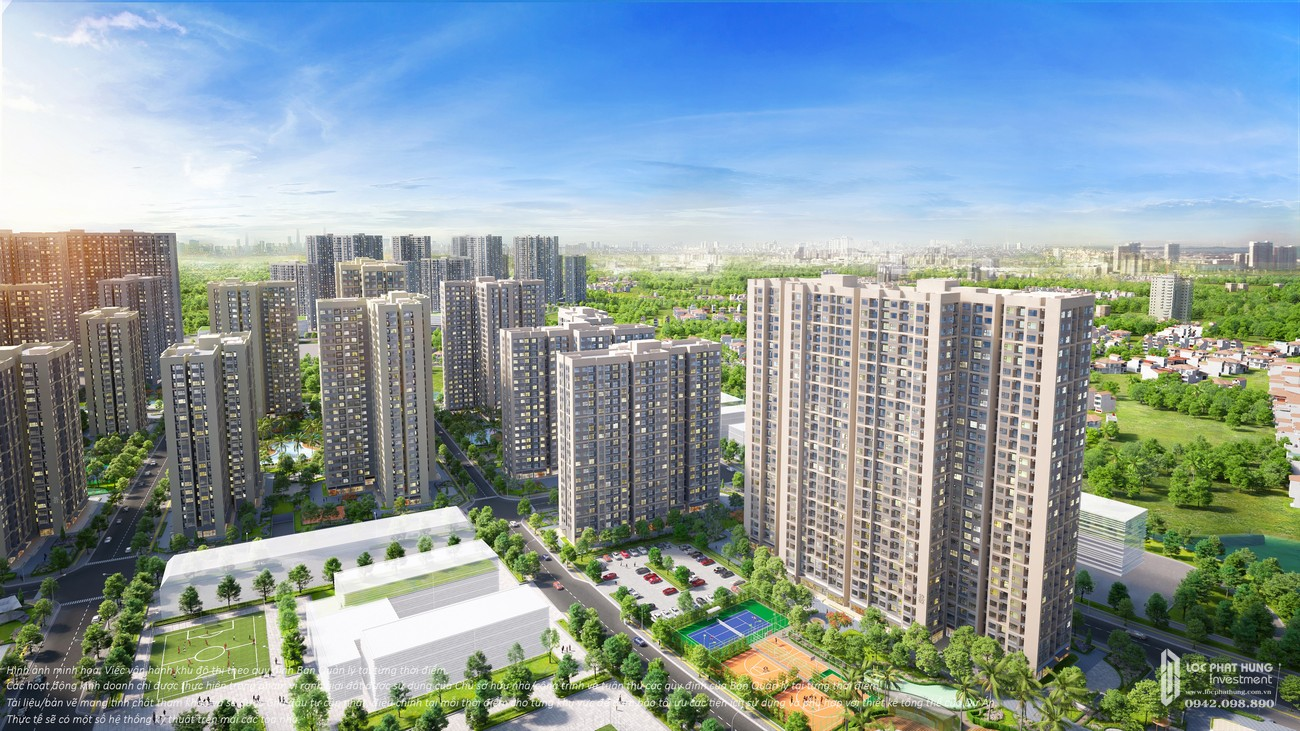 Phối cảnh tổng thể dự án căn hộ chung cư The Origami Quận 9 chủ đầu tư Vingroup