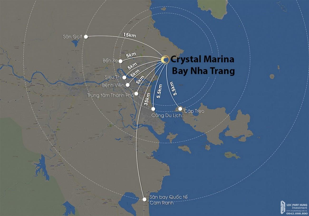 Vị trí dự án condotel Crystal Marina Bay Nha Trang Đường Phạm Văn Đồng chủ đầu tư Crystal Bay