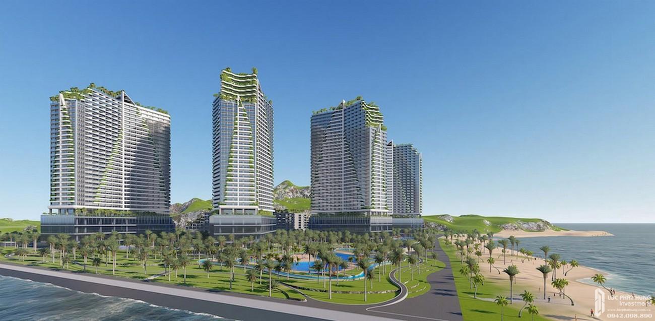 Phối cảnh tổng thể dự án căn hộ Khu du lịch Mũi Dinh Ecopark chủ đầu tư Crystal Bay.