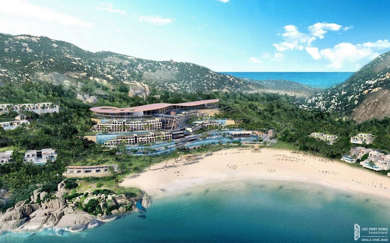 Phối cảnh tổng thể dự án khu du lịch Ninh Chữ Sailing Bay chủ đầu tư Crystal Bay.
