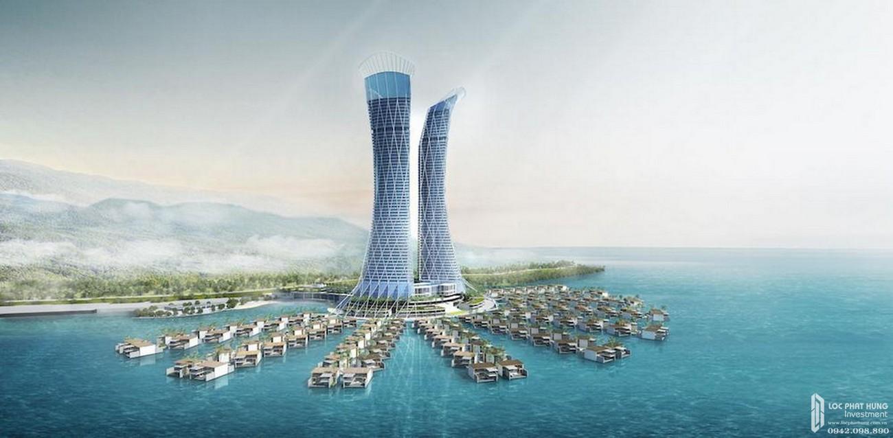 Phối cảnh tổng thể dự án căn hộ Peacock Marina Complex chủ đầu tư Crystal Bay.