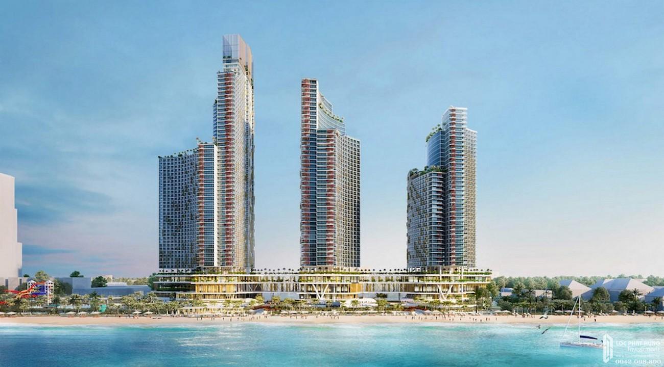 Phối cảnh tổng thể dự án căn hộ Sun Bay Park Hotel & Resort chủ đầu tư Crystal Bay.