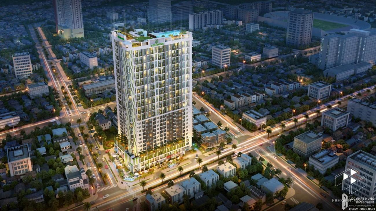 Phối cảnh tổng thể dự án căn hộ chung cư Venus Luxury Quận 5 Số 66 Đường Tân Thành chủ đầu tư Tân Thành